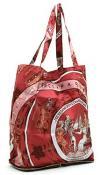 Authentic Hermes Silky Pop Shopper | Beautiful Silk Reusable Shopping Bag