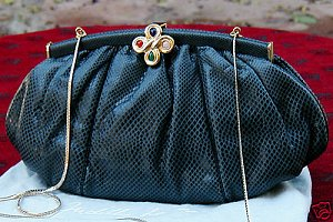 Judith Leiber snakeskin clutch