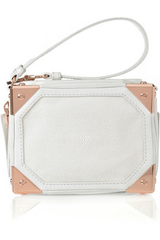 Alexander Wang Jade Stingray, Leather And Suede Wristlet