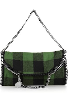Stella McCartney Falabella Wool Plaid Shoulder Bag